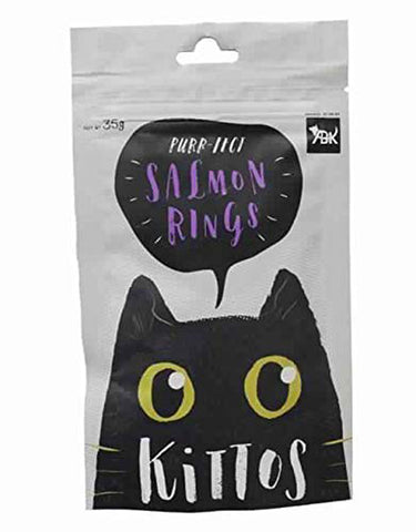 Kittos Salmon Rings Cat Treats (6x35 g) - Pack of 6