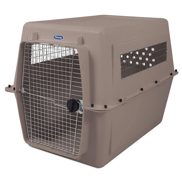Petmate Plastic Pets Kennel with Chrome Door 48 Inch 41-57 Kg Bleached Linen