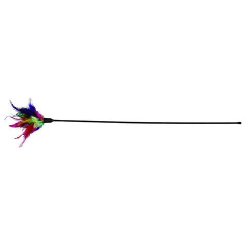 Trixie Playing Rod with Feathers Cat Toy 50 cm - Pack Of 2