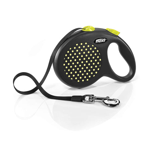 Flexi Design Tape 5m-Yellow Retractable Dog Leash