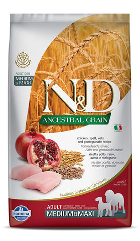 Farmina Ancestral Low Grain Chicken & Pomegranate (Adult | Medium and Maxi Breed)
