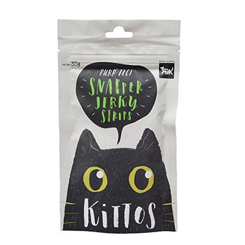 Kittos Snapper Jerky Strips Cat Treats (6x35 g) - Pack of 6