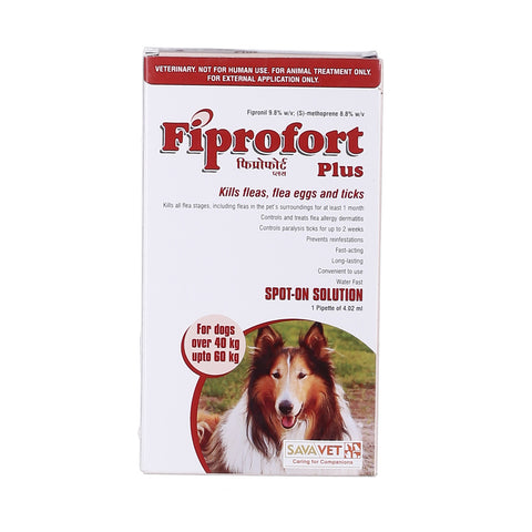 FIPROFORT PLUS SPOT-ON FOR DOGS - 40 - 60 Kg