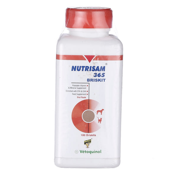 "Vetoquinol Nutrisam""365 Brisket 100 Tab Multi Mineral and Vitamin Supplement"