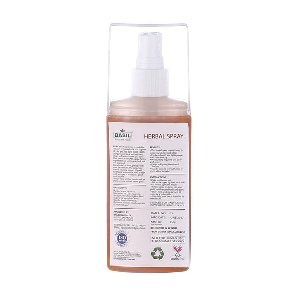 Basil Mouth Spray Cinnamon 130 ML