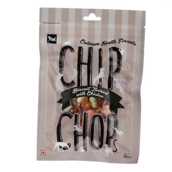 Chip Chops Dog Treats Biscuit Twined with Chicken (3x70g) - Pack of 3
