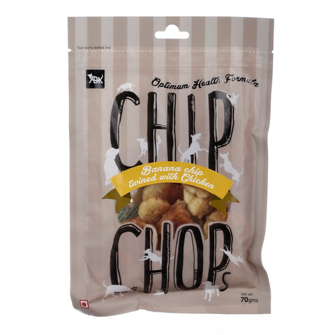 Chip Chops Dog Treats Banana Chip Twined with Chicken (3x70g) - Pack of 3