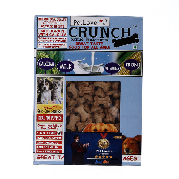 Pet lover Crunch Milk and Chicken Biscuit, (2x900 g) - Pack of 2