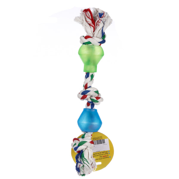 Lal Pet Dog Toy 2 Treat Pods Rope Cotton Toy Large