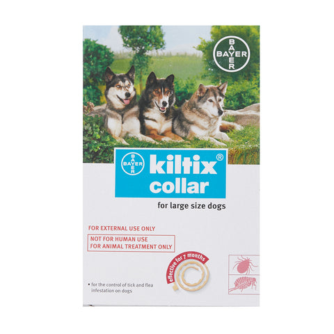 Kiltix Tick Flea Control Infestation Dog Collar - Large