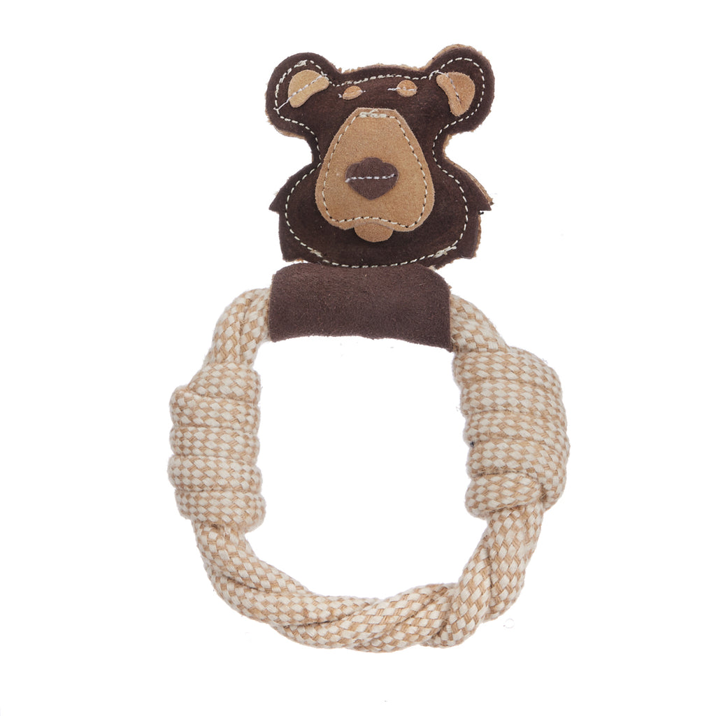 Wiggly Tug Bear (Suede Leather Face)