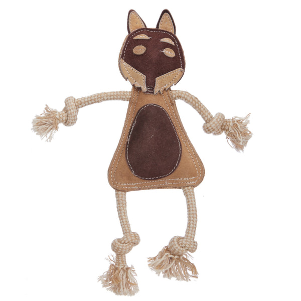 Wiggly Fox (Suede Leather Face)