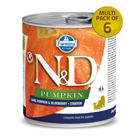 Farmina Puppy Medium Maxi Starter Wet Dog Food Lamb Pumpkin & Blueberry (6x285 g) - Pack Of 6