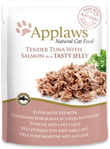 Applaws Cat Tuna Wholemeat with Salmon in Jelly 70 g