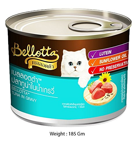 Bellotta Tuna in Gravy Wet Can Food For Cats (6x185 g) - Pack Of 6