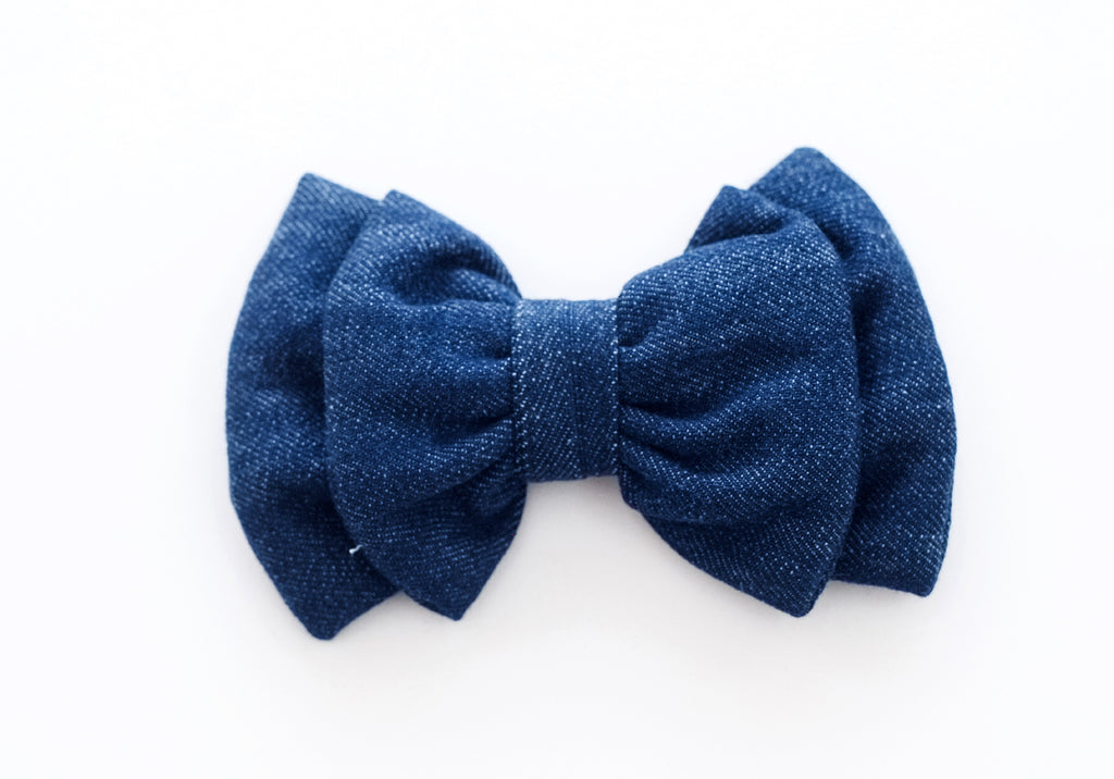Mutt of Course Organic Denim Bow