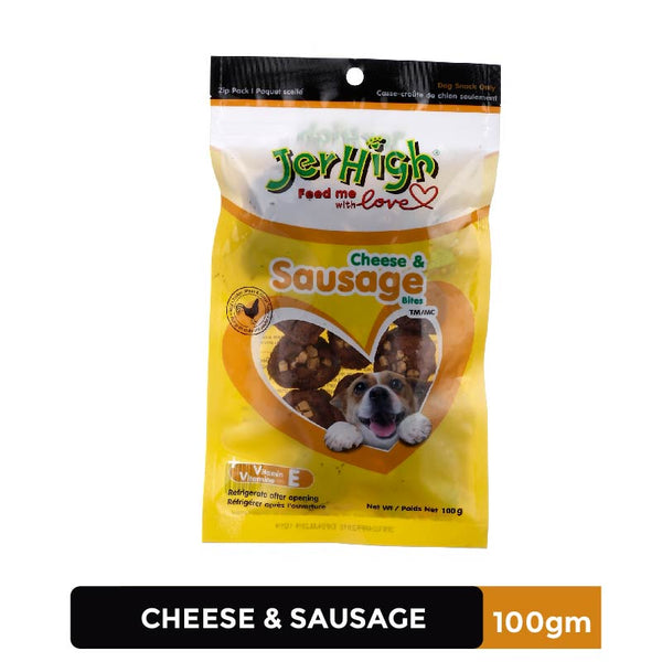 Jerhigh Cheese & Sausage (3x100 g) - Pack of 3
