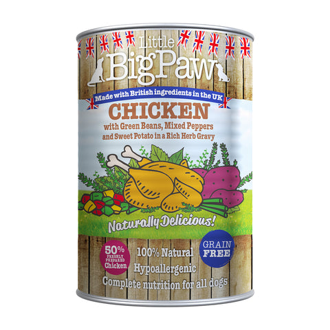 Little Big Paw Chicken Medium Large Breed (6x390 g) - Pack of 6
