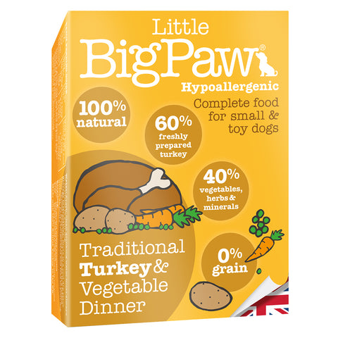 Little Big Paw Turkey & Vegetable Small Breed (7x150 g) - Pack of 7