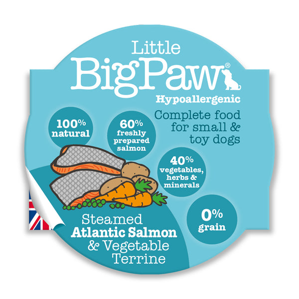 Little Big Paw Salmon Small Breed (7x150 g) - Pack of 7