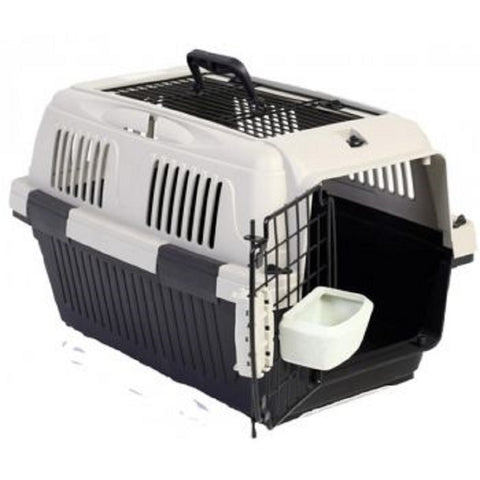 Nutrapet Pet Carrier Box Top Load - Grey