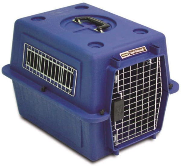 Petmate Plastic Pets Kennel with Chrome Door 21 Inch 4.5-9 Kg Blue