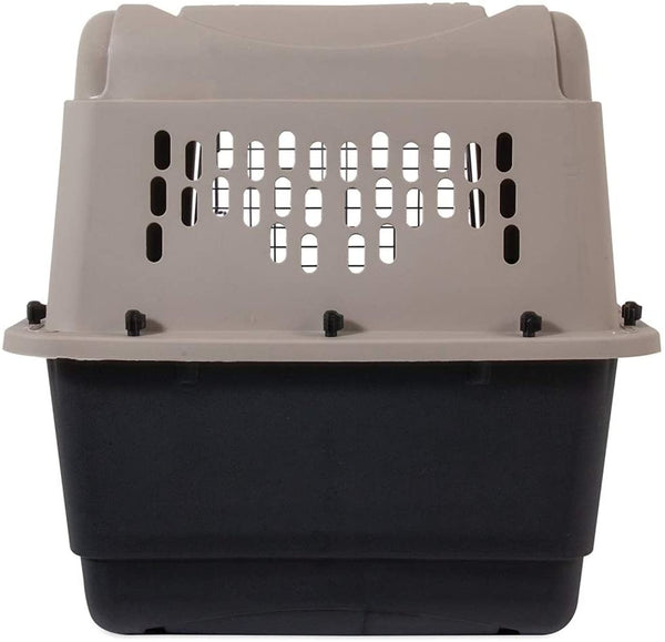 Petmate Plastic Pets Kennel with Chrome Door 28 Inch 11-13 Kg Taupe & Black