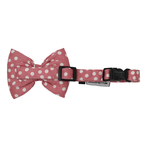 Mutt of Course Polka Pink Bow Tie