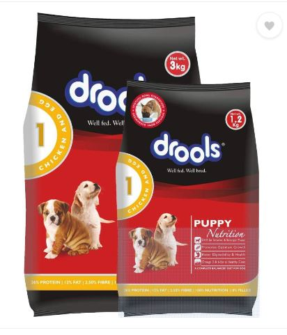 Drools Chicken and Egg Puppy Dog Food, 3 kg with extra 800 Gms
