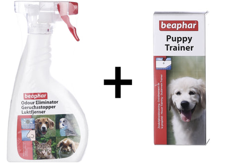 Beaphar Dog Odour Eliminator Spray - 400 ml With Puppy Trainer (20ML)