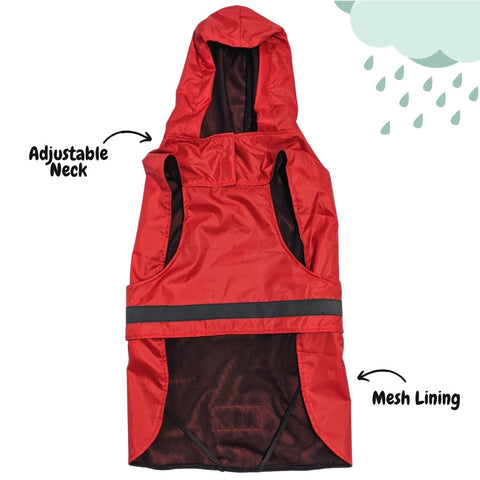 Mutt of Course Royal Red Hoodie Raincoat for Dogs