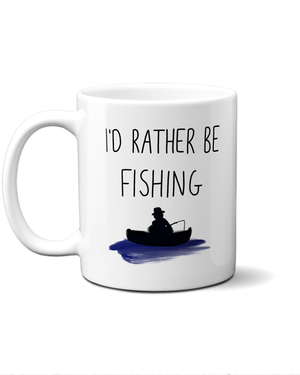 Load image into Gallery viewer, I'd rather be fishing mug