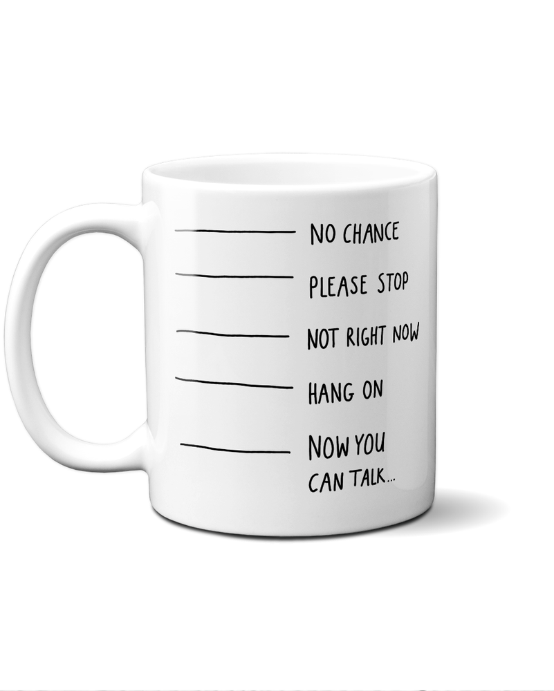 Now you can talk mug