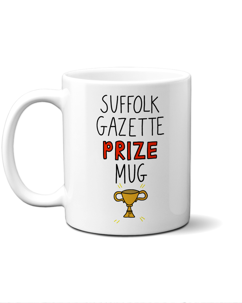 Suffolk Gazette prize mug