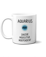 Aquarius star sign mug