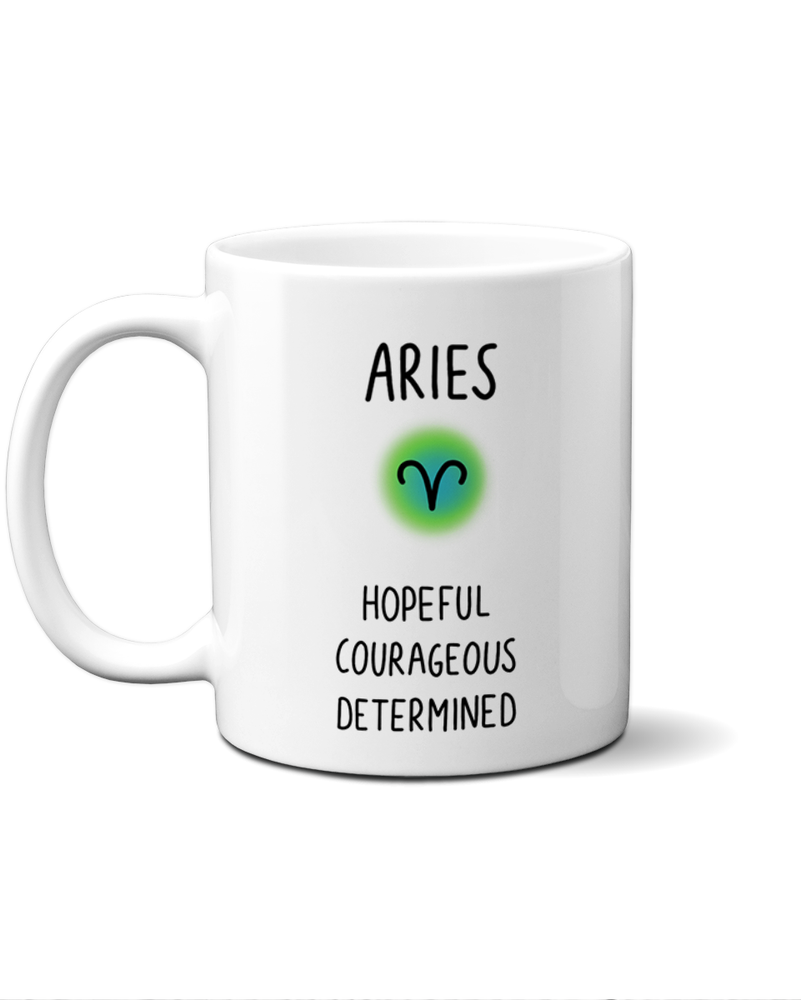 Aries star sign mug