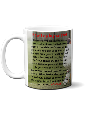 Cricket explained mug