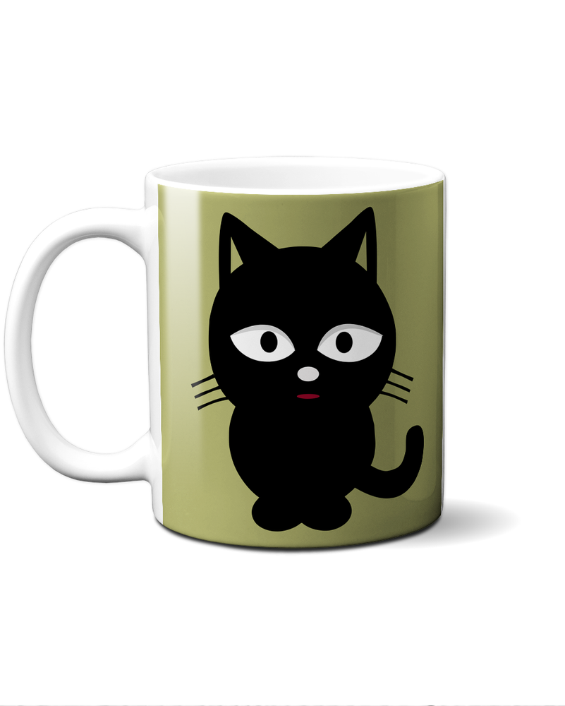 Cute black cat mug