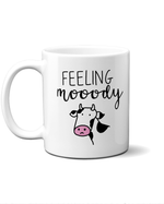 Feeling moody mug with a cow