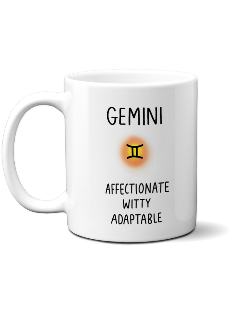 Gemini star sign mug