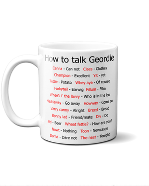 How to talk Geordie mug