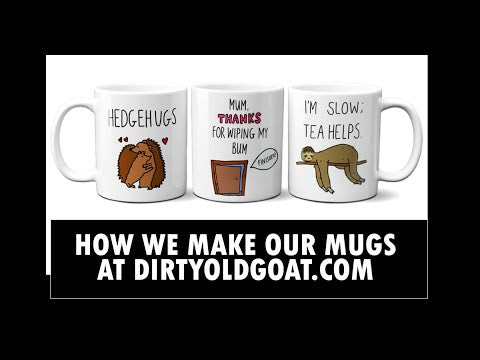 Load and play video in Gallery viewer, I'm slow; coffee helps sloth mug