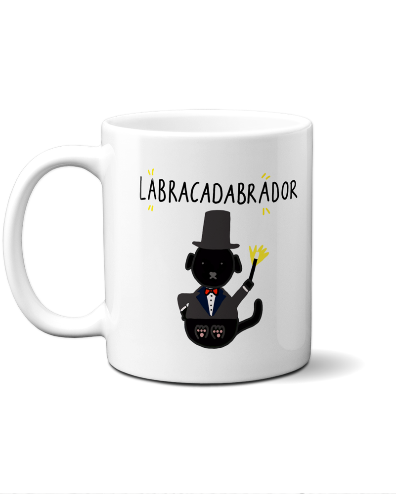 Load image into Gallery viewer, Labracadabrador black lab magician mug