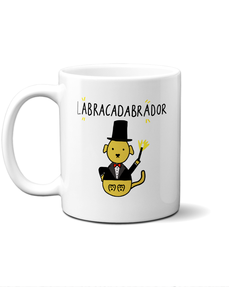 Load image into Gallery viewer, Labracadabrador cream lab magician mug