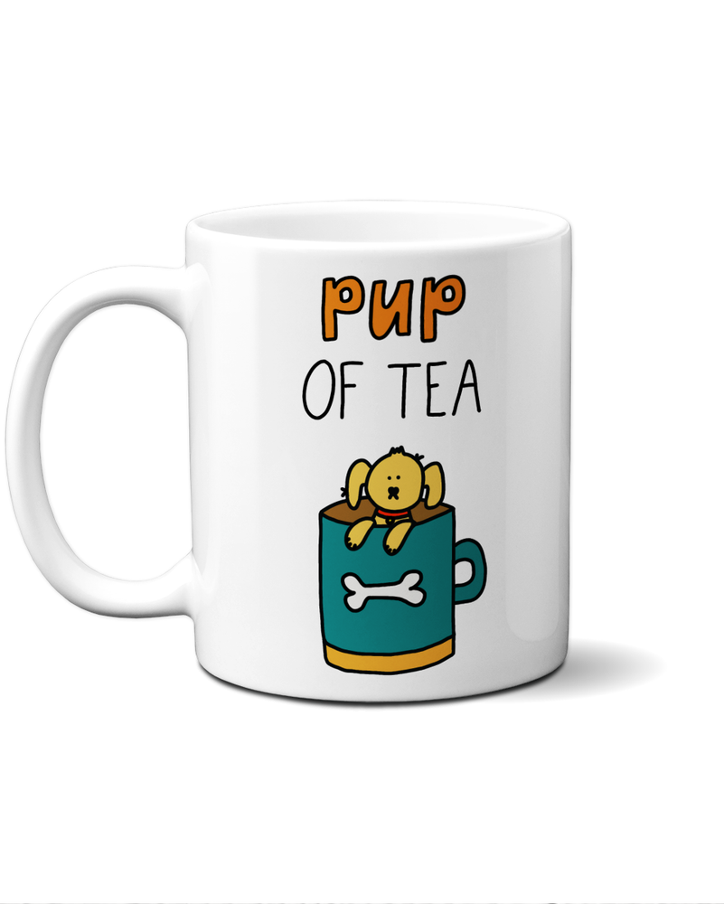 Pup of tea dog mug