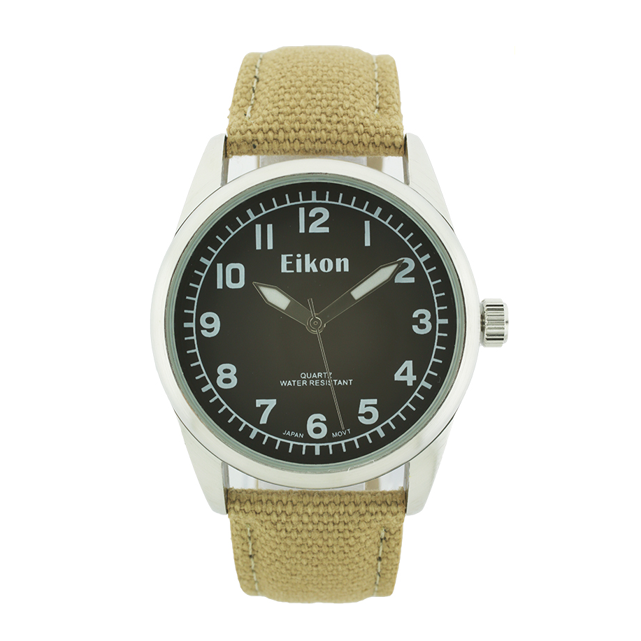 Nylon Band Round Face Watch.