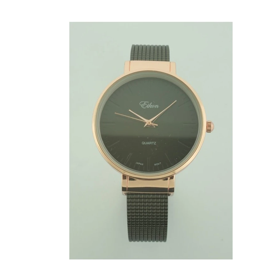 ROUND FACE WITH CUFF MESH BAND WATCH