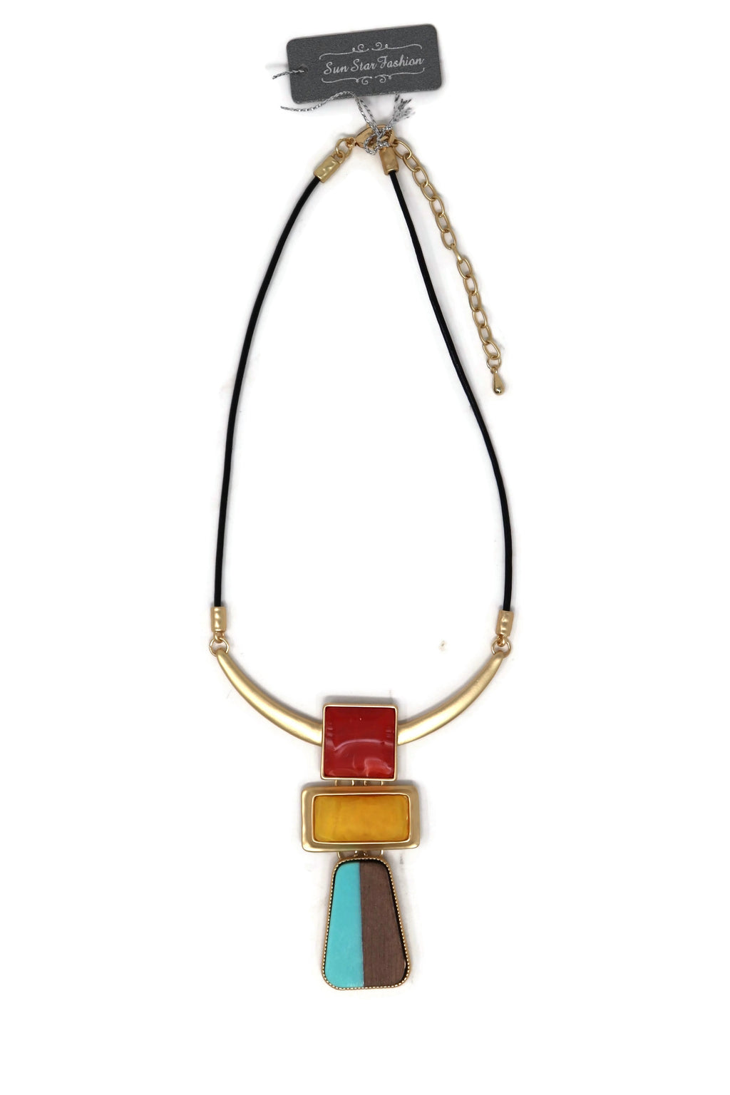 Leather short necklaces with modern Egypt style