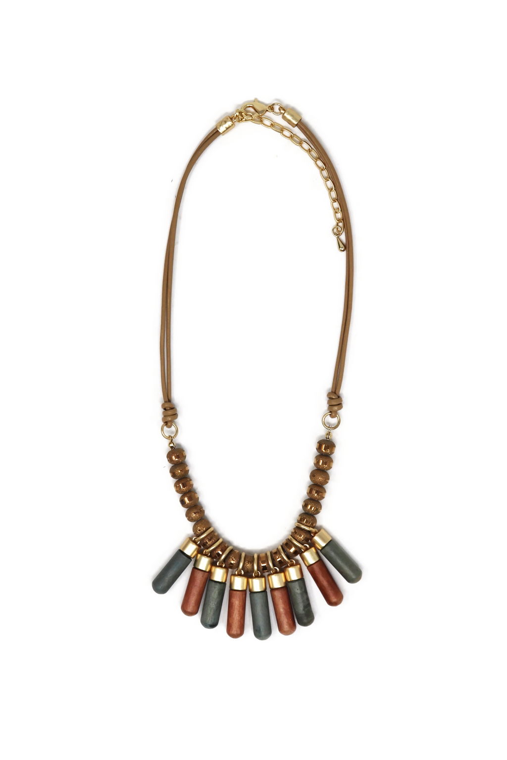 Leather short necklaces modern Egypt style