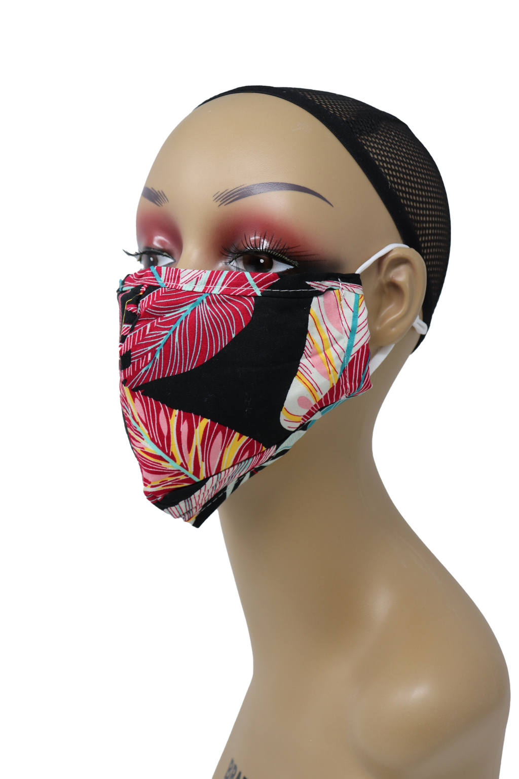 Reusable Washable Cotton Face Mask with Two Filters
